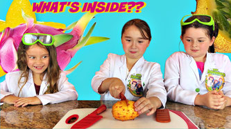 Kids science experiment, what's inside fruit
