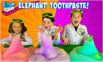 Kids science experiment, elephant toothpaste science experiment