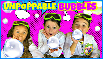 Kids science experiment, unpoppable bubble recipe