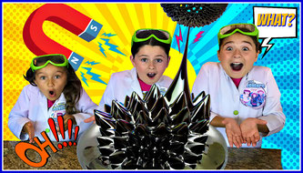 Kids science experiment, science, Ferrofluid experiment