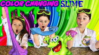 Kids science experiment, heat activated slime, Thermochromic slime