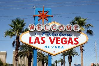 Las Vegas Sign, Zeichen, Las Vegas Boulevard, USA, Nevada, Die Traumreiser