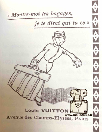 publicité Louis Vuitton groom 1921