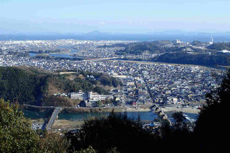 岩国城と錦帯橋