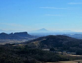 岩船山と筑波山