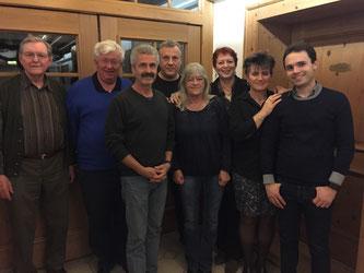 Der neue alte SPD Vorstand - v. l.: Hans Dosch, Alfred Widmann, Michael Schanz, Thomas Bonz, Marion Hussmanns, Birgit Schmidl, Anke Liebsch, Matteo Dolce - Foto: SPD