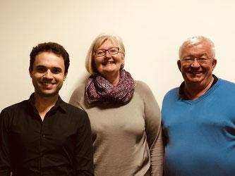 von links: Matteo Dolce, Rosi Weber, Alfred Widmann