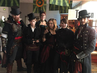 French Steampunk à Ubisoft Paris pour la sortie d'Assassin's Creed Syndicate - Décor Les Chemins de Traverse