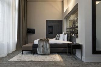 Inneneinrichtung von Dôme Deco im Terhills Hotel in Belgien