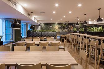Das Mitarbeiter-Restaurant des Hotels Bayerischer Hof, München
