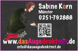 Visitenkarte Das Auge denkt mit Kunsthandwerk Sabine Korn
