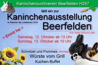 Offizielle Schau-Eröffnung mit Preisvergabe am: Samstag, 12. Oktober, 16:00 Uhr.
