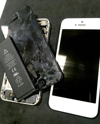 iPhone5 白と黒の部品入替