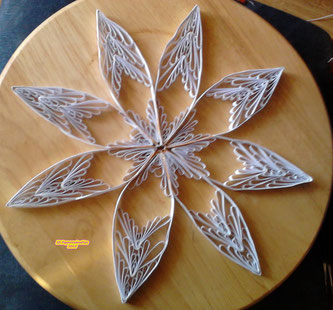Quilling weiss - gold