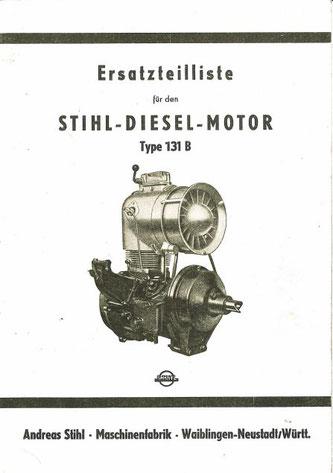Ersatzteilliste zum Stihl-Dieselmotor 131B