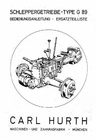 Hurth G89 - Bedienungsanleitung, Ersatzteilliste