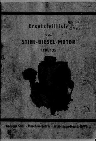Ersatzteilliste Stihl-Dieselmotor 135