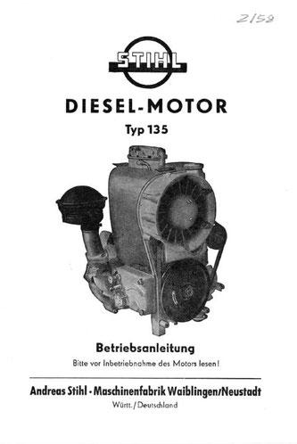 Betriebsanleitung Stihl-Dieselmotor 135