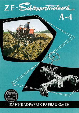 Getriebe ZF A4 Werbeprospekt