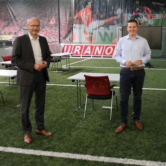 Dr. Helmut Martin im Gespräch mit URANO-COO und Geschäftsführer Sebastian Schmalenbach