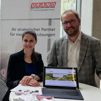 Kristina Stiwich und Dr. Gernot Uhl