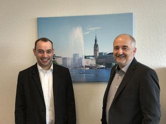 Unsere Schuldnerberater Herr Barnstedt und Herr Alm (v.l.)