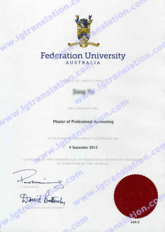 Master of Professional Accounting from Federation University Australia, Jiang Yu
