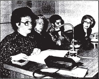 Angelina Gatell, Concha Zardoya, Carmen Conde y Rafael Montesinos