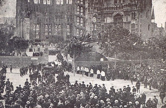 Похороны Антонио Гауди, Барселона
