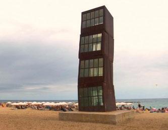 """Уличная скульптура Барселоны. """"Раненая звезда""""."""