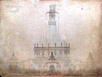 Антонио Гауди - проект фонтана для площади Каталонии в Барселоне