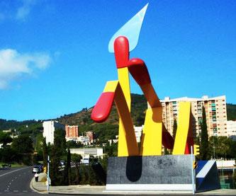 """Уличная скульптура Барселоны - """"Спички"""""""