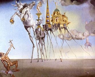 Сальвадор Дали. Искушение святого Антония (1946)