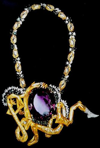 Ювелирные изделия Сальвадора Дали. Ожерелье из сплетенных веток