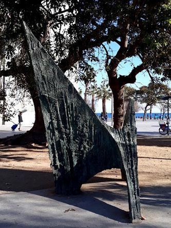Уличные скул ьптуры Барселоны. Воспоминание о море