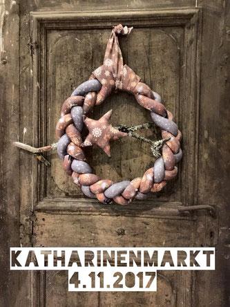 Einzignartig, Einzig-n-Artig, Weihnachten, Alter Markt, Hachenburg, Türkranz, Katharinenmarkt, Stoff, Kranz,