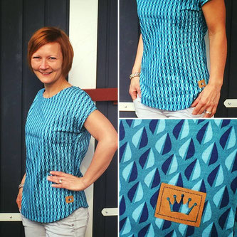 Kibadoo, Basic Blusen-Shirt, Bluse, Happy Flowers, Lila Lotta, Hachenburg, Stoff, Einzig-n-Artig, Alter Markt, Sommer, Sommerbluse
