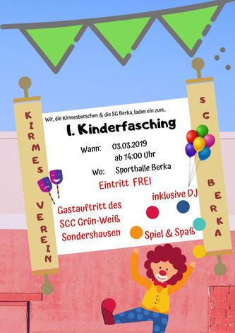 Kinderfasching Fasching Berka SGB Kirmesverein Kirmesburschen SCC Grün-Weiß Sondershausen