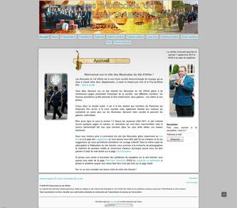 Vue de la précédente version 1.3 du site des Musicales.