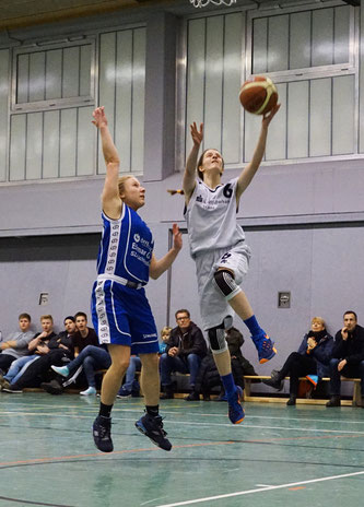 Sarah Budewig kämpfte unermüdlich, konnte die Niederlage am Ende aber leider auch nicht verhindern. (Foto: Fromme)