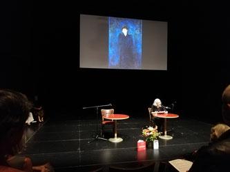 Verena Stössinger liest ihren Text über  Dagny Juel Przybyszewska [ihr Bildnis gemalt 1893 von Edvard Munch]