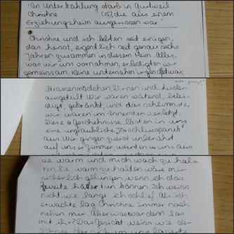 Christine P., Geschichte, Story, AincaArt, Ainca Gautschi-Moser, Foto und Text, Writer, Photographer, www.aincaart.ch, Quersatz,