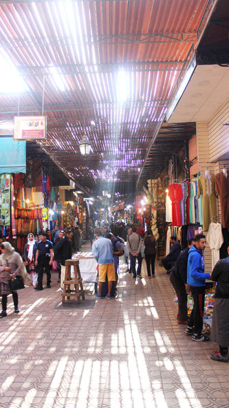 The souks in Marrakesh