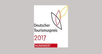 Logo: Deutscher Tourismuspreis 2017 - nominiert!