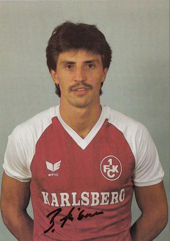 Bruno Hübner, Saison 1985/86 (Foto: Archiv Thomas Butz)