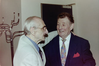 Dr. Willi Pfeiffer und Fritz Walter (Foto: Gilbrecht)