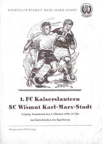 Titelseite Programmheft vom 6.10.1956 (Foto: Archiv FCK-Museum)