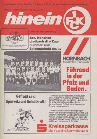 Stadionheft zum Heimspiel gegen Gladdbach (Foto: Archiv Eric Lindon)