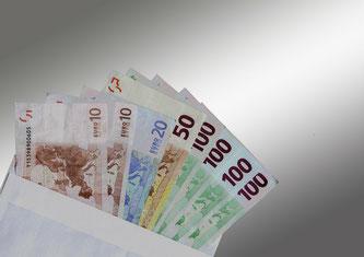 Kaution - Geldscheine