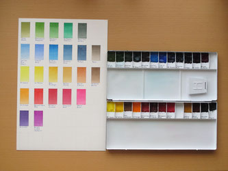 水彩絵の具Winsor&Newtonの色見本